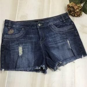 A.N.A. Distressed Denim Shorts Sz 14